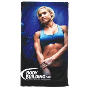 "Microfiber Velour Sublimation Sports Towel, 11"" X 18"""