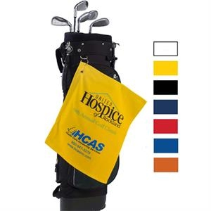 "Embroidered-colors - Colored Plush Velour Golf Towel, 15"" X 18"""