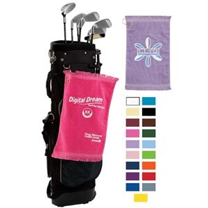 "Specialty Printed-colors - Premium Color Fringed Velour Golf And Spirit Towel, 11"" X 18"""