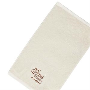 "Embroidery - Embroidered Organic Cotton Terry Hand And Sport Towel, 3 Lbs/doz, 16"" X 25"""