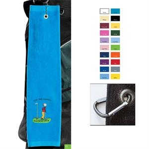 "Specialty Printed-colors - Top Of The Line Golf Towel, 16"" X 26"", Heavy Weight And Dobby Hemmed"