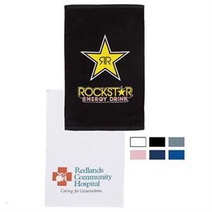 "Specialty Printed-colors - Premium Terry Velour Hand Towel, 16"" X 25"""
