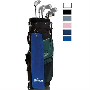 "Printed-colors - Mid-weight, Hemmed Velour Golf Towel. 16"" X 25"""