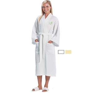 Colors - Waffle Kimono 3/4 Length Robe With Two Patch Pockets