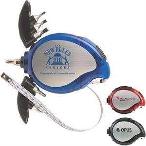 Palm Tool Kit With 3-ft Metal Measuring Tape