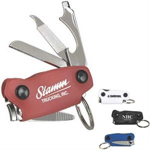 Maverick - Multi-tool Key Ring, Includes Nail Clipper, Knife, Bottle Opener, File, Screwdriver