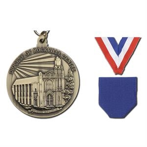 "1 7/8"" - Cast Single Sided 3d Medal Has 2 Mm To 3 Mm Thickness"