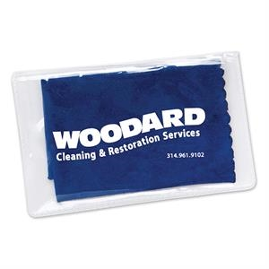 Blue - Microfiber Screen Cleaner In Pouch