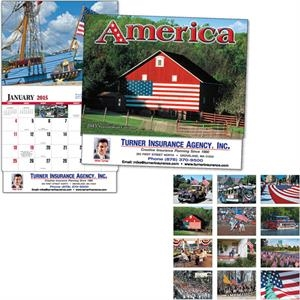 Thirteen Month Appointment Calendar With A Patriotic Quote For Each Month