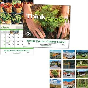 Think Green (tm) - Thirteen Month Appointment Calendar With Photos And Tips