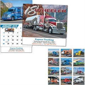 Thirteen Month Appointment Calendar With 18-wheeler Images