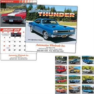 Street Thunder - Thirteen Month Appointment Calendar With Muscle Car Images