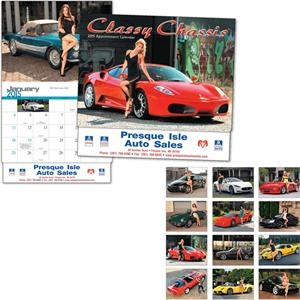 Classy Chassis (r) - Thirteen Month Appointment Calendar Features Cars Paired With Women