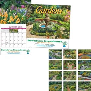 Miniatureline (tm) Gardens - Thirteen Month Miniature Calendar With Garden Scenes