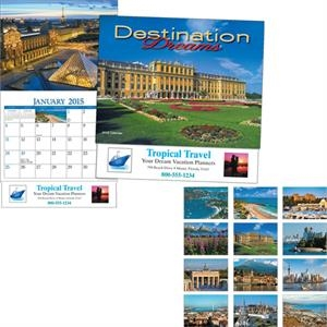 Miniatureline (tm) Destination Dreams (r) - Thirteen Month Miniature Calendar With Images Of Scenic Destinations