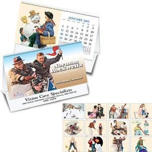 Norman Rockwell - Thirteen Month Desk Tent Calendar