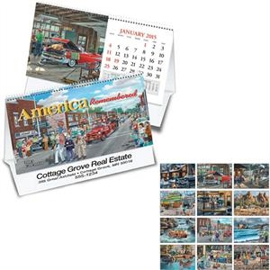 America Remembered - Thirteen Month Desk Tent Calendar Featuring The Art Of Ken Zylla