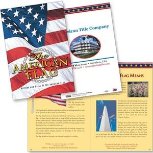 The American Flag Patriotic Booklet With History And Interesting Facts