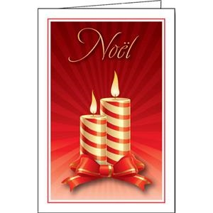 Yule Candles - Holiday Greeting Card