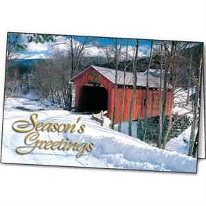 The Red Bridge - Holiday Greeting Card