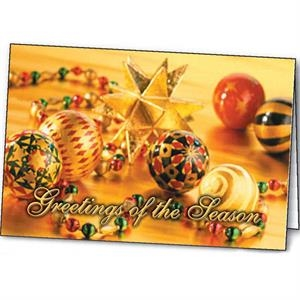 Shimmering Ornaments - Holiday Greeting Card