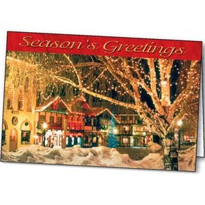 Village Glow - Holiday Greeting Card