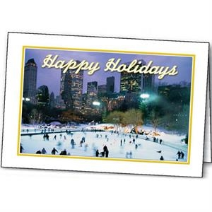 Skating Holiday - Holiday Greeting Card