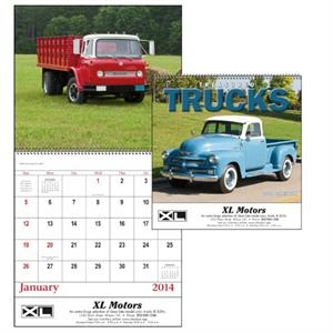Spiral, 13-month 2015 Calendar With Photos Of Treasured Trucks From Years Gone By