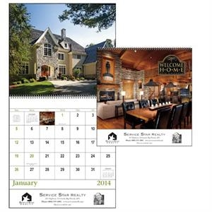 Spiral, 13-month 2015 Calendar With Photos Of Gorgeous Homes