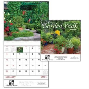 Spiral, 13-month 2015 Appointment Calendar With Eye-catching Garden Images