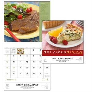Stapled, 13-month 2015 Calendar With Recipes And Photos Of Delicious Dining
