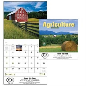 Stapled, 13-month 2015 Calendar With Images Of Abundant Fields And Quiet Beauty