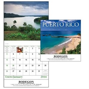 Puerto Rico - Stapled 13-month Scenic 2015 Calendar With Images Of Puerto Rico