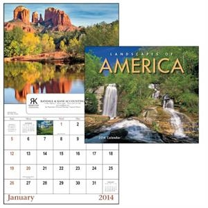 Landscapes Of America - 13-month 2015 Window Calendar With Beautiful Landscapes From America