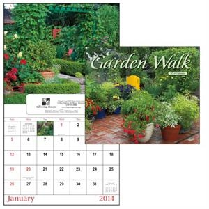 13-month 2015 Window Appointment Calendar With Eye-catching Garden Images