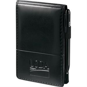 "Windsor Reflections - Jotter With 3"" X 4.75"" Unlined Writing Pad And Pockets For Business Cards"