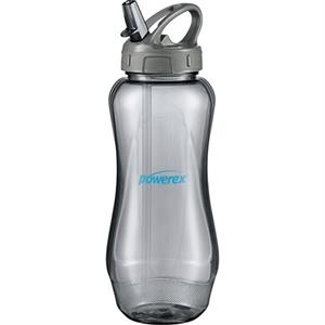 Aquos (r) Cool Gear (r) - Sport Bottle With Carabiner Hook, 32 Oz