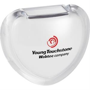 Heart Shaped Pedometer With Clear Acrylic Cover