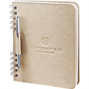 Journalbooks (r) Ecosmart (r) - Journal With Natural Color Cover Made From 100% Recycled Cardboard