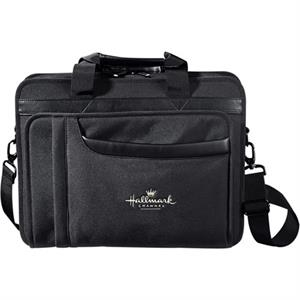 "Paragon - Black 600d Polycanvas Computer Briefcase, Holds A 17"" Laptop"