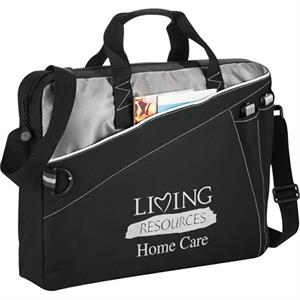 Skyline - 600 Denier Polycanvas Briefcase With Zippered Front Pocket