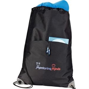 Profiles - 600d Polycanvas Drawstring Cinch Bag, Designed For Shoulder Or Backpack Carry