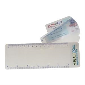 Clear Magnifier With Ruler