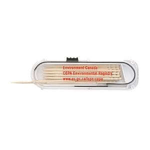 Toothpick dispenser Case With 12 Toothpicks