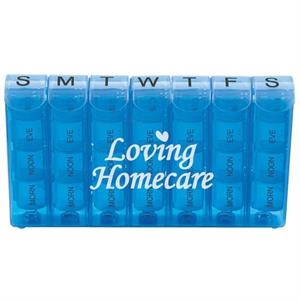 Spring Action 28-Compartment Pill Box