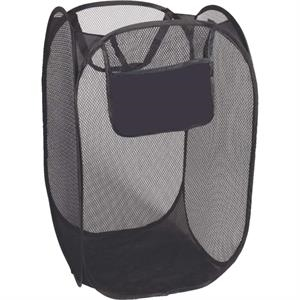 Folding Laundry Bag, Collapsible Mesh Bag With Black Trim