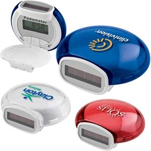 Pedometer With Solar/battery Power, Bubble Design And Jewel Tone Translucent Color
