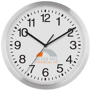 Wall Clock With Slim Metallic Frame And Quartz Analog Movement