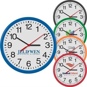 "12"" Round Wall Clock With Quartz Analog Movement"