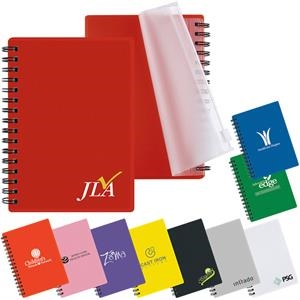 Buddy - Spiral Bound Mini Pocket Sized Notebook With Translucent Color Cover